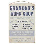 Wall Plaque Grandad's Work Shop Hanging Sign
