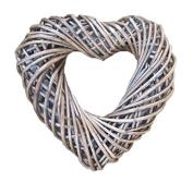 Small Antique Wash Heart Shaped Wreath 30cm Diameter