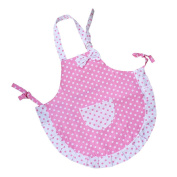 Homgaty Children Kids Princess Bowknot Kitchen Apron For Baking Cook Painting Party With 2 Layers Cloth