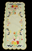 Lovely Easter Oval Rectangular Colourful tablecloth, table runner, doily, place mat Bunny, Sheep, Egg 40cm x 85cm