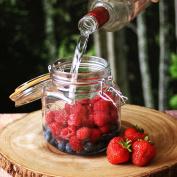 Kilner Square Clip Top Jars 1ltr - Case of 12 | Kilner Preservation Jars, Kilner Storage Jars, Kilner Jam Jars with Cliptop Lid