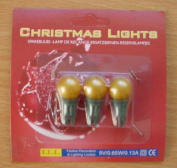 Pack of 3 Gold Push in Spare Bulbs for Berry Lights 5v 0.65w 0.13a