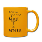 Valentine's Day Matching Couples Love Song Full Colour Mug by Spreadshirt®, sun yellow