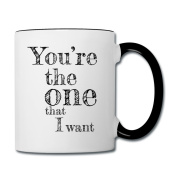Valentine's Day Matching Couples Love Song Contrasting Mug by Spreadshirt®, white/black
