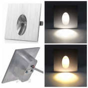 MHY 10pcs LED Wall Recessed Light Stairs Stairway Lamp Wall Sconces Step Light Soft Warm White 1W Deck Light [Energy Class A]
