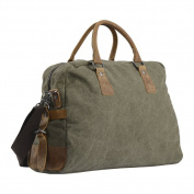 Wonder Youth Travel Duffel Large Totes Weekend Bag Canvas Leather Trim