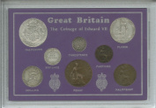 1902-1910 King Edward VII Great Britain British Coin Collection Collector Type Set