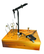 Creative Angler Wooden Fly Tying Station with Super AA Vise for Fly Tying or Tying Flies