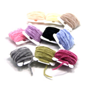 SAMS Fly Tying Body Materials Tinsel Rayon Chenille Yarn 2mm Small for Woolly Bugger Worms Leech 10 Random Colours Assorted 30M