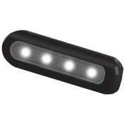 Taco Metals 4 LED Deck Light Flat Mount black Housing 4 LED Deck Light,