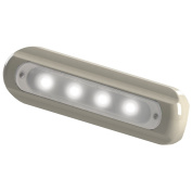 Taco Metals 4 LED Deck Light Flat Mount White Housing 4 LED Deck Light,