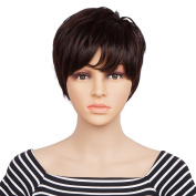 Veracicky Charming Wigs New Fashion Women Party Sexy Full Hair Wig Human Hair Natural Looking Wigs+A Free Wig Cap