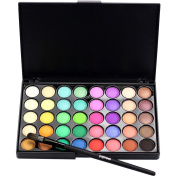 Creazy Cosmetic Matte Eyeshadow Cream Makeup Palette Shimmer Set 40 Colour+ Brush Set