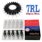Solong Tattoo® Disposable Hawk Tattoo Needle Cartridges Round Liner (RL) 10pcs/Box EN03-7RL