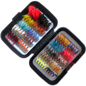 Flyafish Vintage 100pcs Fly Fishing Lure Stream Trout Fishing with One Box