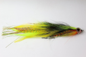 Jointed Muskie / Pike Fly - Firetiger Perch -5/0 18cm - 20cm long