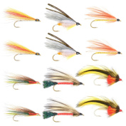 The Fly Fishing Place Classic Streamers Fly Fishing Flies Collection - Assortment of 12 Trout Wet Fly Streamer Flies - Hook Size 4