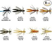 Crawfish / Crawdads / Crayfish Flies Assortment Kit - 8 Streamers