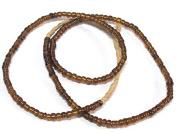 1 FULL STRAND 50cm long - Ghana honey amber colour african glass beads - 120 plus beads - AB058