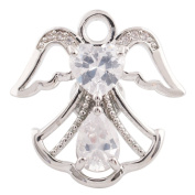 Lovmoment Recommend Snap Angel Wing Shape with Zircon Snap Button Chunk Charms Jewellery