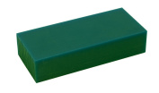 7.6cm - 1.6cm x 15cm x 2.5cm - 1.3cm Hard 0.5kg Dark Green Melting Wax Carving Machining Block Jewellery Making Tool