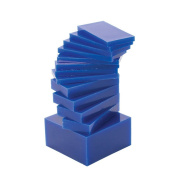 2.5cm - 1.3cm x 7.6cm - 1.3cm 7 Piece Medium-Hard 0.5kg Blue Sliced Melting Wax Set for Carving Machining Block Jewellery Making Tool