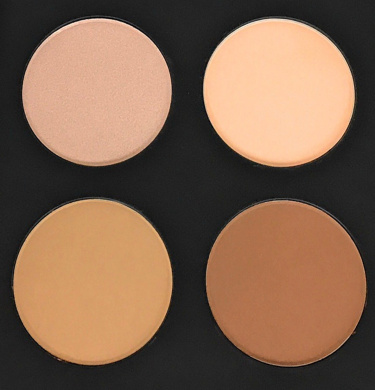 Glow and Contour Kit Face Contouring & Highlighter 4 Colour Makeup Palette - Top Quality Mineral Ingredients by Mynena