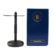 RoyalShave Safety Razor and Brush Stand - Powder Coated Black