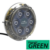 Bluefin LED Piranha P12 Underwater Light - Surface Mount - 12/24V - Emerald Green