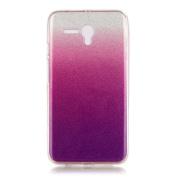 Moonmini Gradient Colour Sparkling Glitter Ultra Slim Fit Soft TPU Phone Back Case Cover for Alcatel OneTouch Pop 3 14cm - Violet