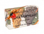 Alchimia UVA MIRTILLO (Grape & Bilberry), Vegetable Handmade soap Bar from Italy