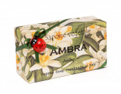 Alchimia AMBRA (Amber incense), Vegetable Handmade soap Bar from Italy