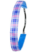 Ivybands Anti-Slip Headband Power Play, One size Blue Cheque, IVY300