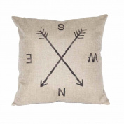 DATEWORK Synthesis Linen Sofa Waist Throw Cushion Cover Home Decor
