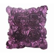 DATEWORK Floral Decorative Satin Throw Sofa Cushion Cover