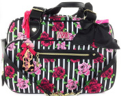 Betsey Johnson Be Mine Floral Weekender Baby Nappy Bag with Changing Pad