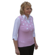 Daily Sports Ladies Cotton Mix Polka Dot V Neck Golf Slipover in Pale Rose Size Small