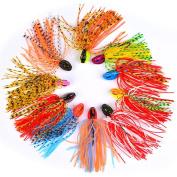 10pcs Lot Spinnerbait buzzbait Fishing Lures Bass Jigs hooks Bait Jig Fishing Tackle Spinner Baits 8cm 13g