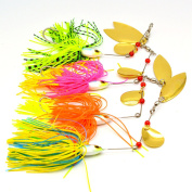 4pcs Lot Buzzbait 19.5g Spinnerbaits Fishing Lures Bass Metal Jigs Fishing Tackle Spinners Fish Bait