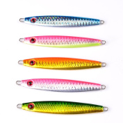 5pcs Lot Exported Lead Fish 30g Fishing Lure 5 colours Bait Casting Lures Deep Dive Jigs Bass Seawater Baits