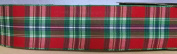Red/Green Christms Colours Plaid Ribbon - 3.8cm Wide - 3 Yards