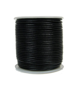 Premium Round Leather Cord, 25 Metre Spool, 1mm Black