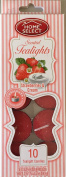 Home Select Scented Tealight Candles 10 Pack Ea 10ml Fresh Strawberry & Cream supply:luckydonk