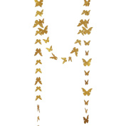 Ling's moment Butterfly garland ( Gold Glitter ) for Wedding, Baby Shower, Birthday Decor & Butterfly Theme Decor, 3m Long
