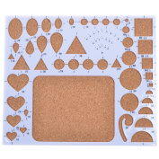 BCP Paper Quilling Mould Mould Template Board, Circle Heart Template Board, Quilling Work Board DIY Scrapbooking Paper Quilling Handmade Tools