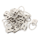 uxcell 45mmx22.5mm D-Ring Photo Frame Cross Stitch Hanger Hook Silver Tone 20pcs