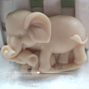 Grainrain Soap Mould Silicone Craft Elephant Family Soap Making Mould DIY Candle Resin Mould
