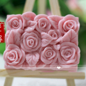 Grainrain Soap Mould Silicone Craft Rose Rectangle Soap Making Mould DIY Candle Resin Mould