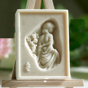 Grainrain Soap Mould Silicone Craft Girl Rectangle Soap Making Mould DIY Candle Resin Mould