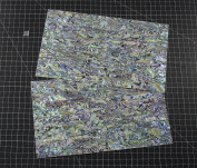 NEW PAUA BLUE sheet shell inlay 9.5 x 14cm x 0.02cm